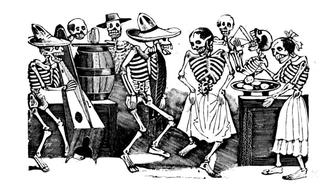 jose posada dancing skeletons