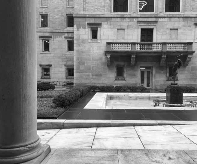 Gardner Courtyard B&W