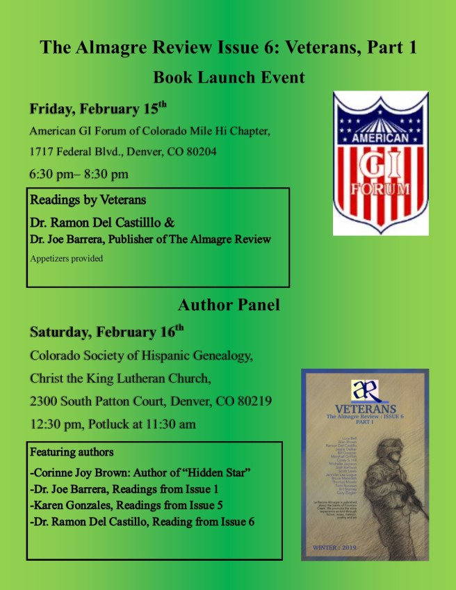 GI Forum vets book event
